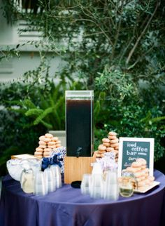 Style Me Pretty | Gallery & Inspiration | Picture - 833062.  Ice coffee bar