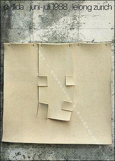 Cartel de la exposición de Eduardo Chillida en Lelong/Zurich, junio/julio 1988.