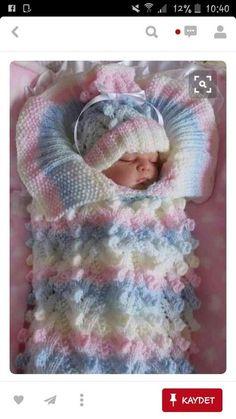 Uyku tulumu battaniye sipariş ile örülür [] # # #Knitting #Child, # #Tissues