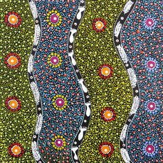 Traditional Australian Aboriginal Art  rtist: Rosemary Bird Mpetyane  Title: Women Collecting Alpar