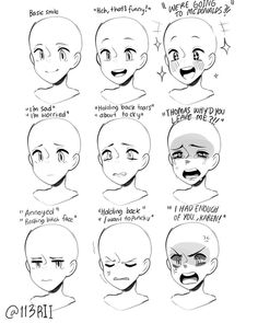 Degrees of Emotion - Reference - Tutorial, emotions, drawing, art. Manga Drawing Tutorials, Drawing Techniques, Drawing Tips, Art Tutorials, Male Drawing, Manga Tutorial, Anatomy Tutorial, Eye Tutorial, Painting Tutorials