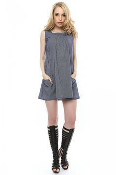 Tunica Roh Boutique din bumbac - BR980 bleumarin