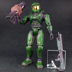 "Halo 1 Series 2 MASTER CHIEF Green 7.5"" Action Figure Joyride 2003 #JoyrideStudios"