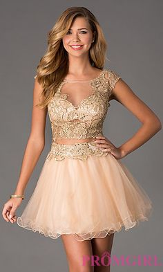 Short Two Piece Illusion Prom Dress by Dave and Johnny at PromGirl.com My 18th birthday dress