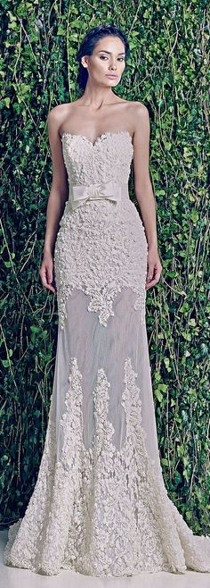 "Zuhair Murad Bridal F/W 2014-2015.  Every body on pinterest has a ""Future Wedding"" board, except me.  But in red or black, this would be an awesome evening gown."