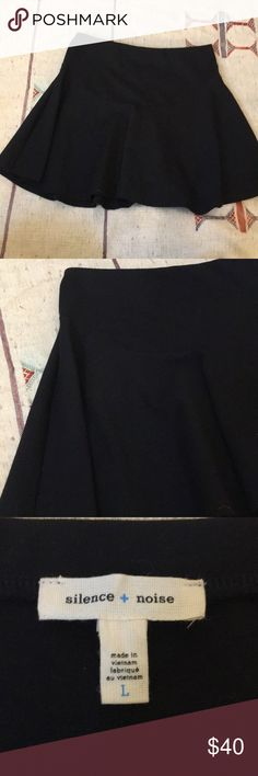 Large black silence and noise / UO skater skirt Black Like new silence + noise Skirts