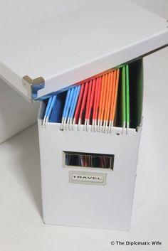 como clasificar papeleo casa