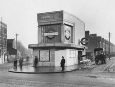 Trinity Road Station - now Tooting Bec. Charles Holden station design