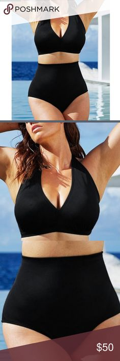 c1fd8312216e7 Try out the Diva Black Halter Bikini Top and more at Swimsuits for All!  From stylish tankinis to classic bikinis