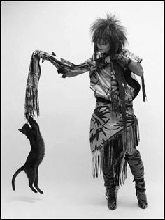 siouxsie sioux and her cat (punkrock pets)