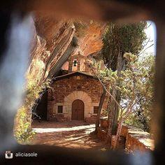 Postcard from l'ermita de la Mare de Déu de l'Abellera in #Prades. +INFO www.muntanyescostadaurada.cat. Picture by @aliciasole (Instagram)