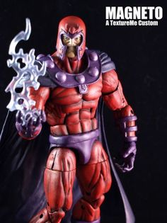Magneto (Marvel Legends) Custom Action Figure by TextureMe He was created using the ML Sabertooth Base with the MS Magneto Head and cape. Sculpted the gloves, belt and boots.