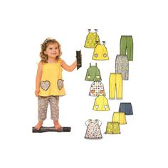 Toddler's Capri Pant Pattern with A Line by RedcurlzsPatterns