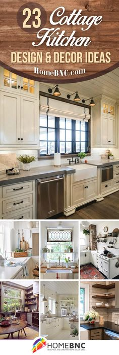 Cottage kitchen decorating ideas show you how to bring coziness, charm and country to your home. Find the best designs! Home Kitchens, Kitchen Remodel, Kitchen Decor, Country Cottage Kitchen Decor, Kitchen Design Decor, Cottage Decor, Cottage Style Decor, Kitchen Styling, Cottage Kitchen Design
