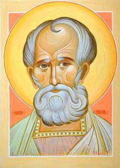 St. Nicholas of Myra More icons of the venerable saints: http://whispersofanimmortalist.blogspot.com/2015/05/icons-of-venerables-3.html