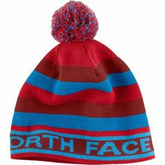 The North Face Throwback Red/Blue Fleece Lined Beanie Winter Snow Hat Men/Women by The North Face. $34.99
