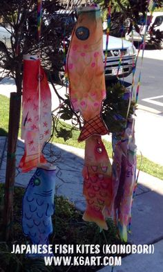 Japanese Fish Kites (Koinobori) » K - 6 Art K – 6 Art. Post includes art project plus video of koi kites on display in Japan.