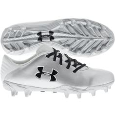 Under Armour Women's LAX Blur MC Lacrosse Cleat - Silver/White | DICK'S Sporting Goods