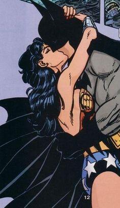 Hidden passion | Batman and Wonder Woman | Superheroes | Kiss | Vintage | Retro | Comics