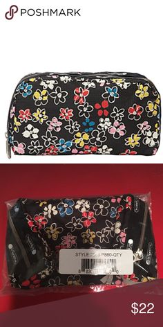 Lesportsac essential cosmetic flower burst bag Lesportsac essential cosmetic flower burst bag Bags Cosmetic Bags & Cases
