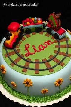 piece of cake: Tågtårta till Liam