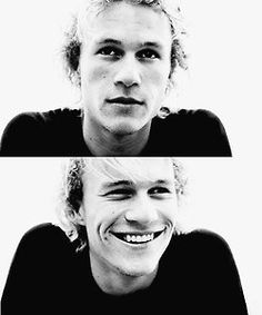 all i want for christmas is a boy with a contagious smile like heath ledgers.