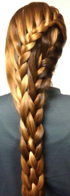 Flower 4st braid hairstyles pinterest hair style unique parallel french braids that integrate into a five strand plait how wicked cool ccuart Images