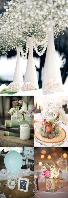 Centros de mesa originales para las bodas de 2015