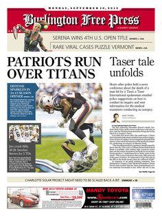 Today's Free Press front page http://www.burlingtonfreepress.com/