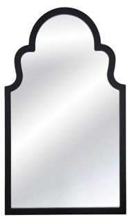 Elberta Wall Mirror, Black