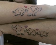 baby elephant tattoo mama