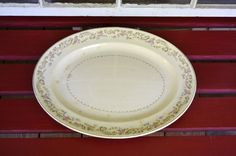 Vintage Paden City Pottery Large Serving Platter Rustic Cottage Decor PanchosPorch