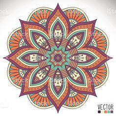 Mandala vetor e ilustração royalty-free royalty-free Flower Art Drawing, Mandala Drawing, Mandala Artwork, Turkish Art, Art Corner, Mandala Coloring Pages, Painting Gallery, Mandala Design, Fabric Painting