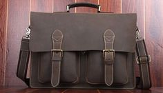 Classic Handmade Leather College Brown Bag of High Quality And Style | www.pilaeo.com
