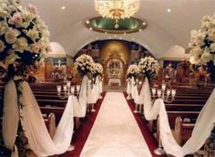 Décorer l allée de l église pour son mariage