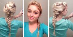 Elsa braid! :)  #disney #elsa #frozen #elsa hair