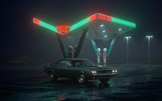 Ознакомьтесь с моим проектом @Behance: «Neon Gas station» https://www.behance.net/gallery/61666319/Neon-Gas-station
