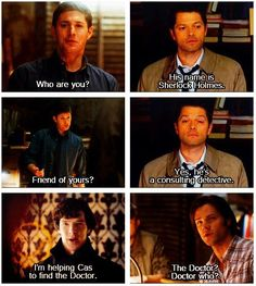 Makes me think of when sherlock said he was on the side of angels but wasn't one......he is literally on cas's side :)