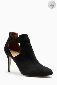 63142d5113c14 שחור נעלי מגף עם חיתוכי צד Bootie Boots