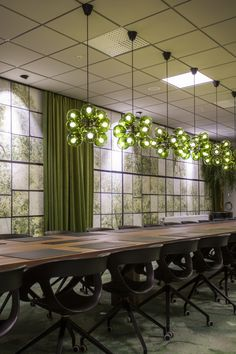 Great meeting room at Nowaste Logistics in Sweden – wallpaper No Waste, Helsingborg, Inspirational Wallpapers, Office Interiors, Wall Murals, Sweden, Dining Table, Tropical, Windows