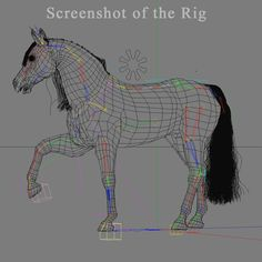 cinema4d ged horse animation poses