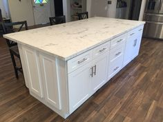 white shaker ca | white shaker full overlay kitchen cabinets with quartz carrara…