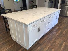 white shaker ca | white shaker full overlay kitchen cabinets with quartz carrara…