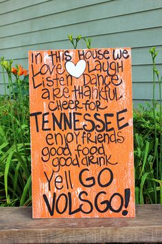 Wooden Art Wooden Signs Wood Signs College by simplysouthernsigns Wooden Art, Wooden Signs, Tennessee Girls, Tennessee Football, Ut Football, Football Crafts, Football Stuff, Football Season, Go Vols