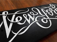 Beautiful type on a skateboard by Simon Ålander