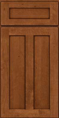 KraftMaid Cabinets -Square Recessed Panel - Veneer (HW) Birch in Antique Chocolate w/Mocha Glaze from waybuild
