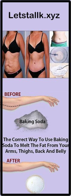The Correct Way To Use Baking Soda To Melt The Fat From Your Arms, Thighs, Back And Belly #health #beauty #remedies #Effective #homeremedies #skincare #healthtips #bakingsoda