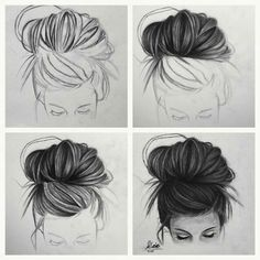Fantasting Drawing Hairstyles For Characters Ideas. Amazing Drawing Hairstyles For Characters Ideas. Cool Art Drawings, Pencil Art Drawings, Art Drawings Sketches, Drawing Ideas, Music Drawings, Painting & Drawing, Drawing Hair, Dibujos Tumblr A Color, Art Du Croquis