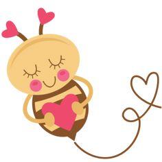 Girl Bee (valentine) SVG