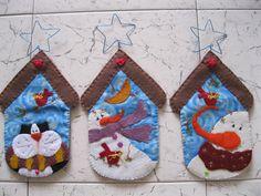 Christmas Bird, Felt Christmas Ornaments, Christmas Humor, Christmas Stockings, Christmas Crafts, Christmas Decorations, Xmas, Christmas Wall Hangings, Fabric Ornaments